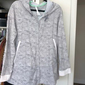 Lululemon atheletic zip jacket in grey